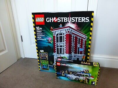 LEGO Ghostbusters Firehouse Headquarters And Ecto-1 Car 75827 And 21108 • 750£