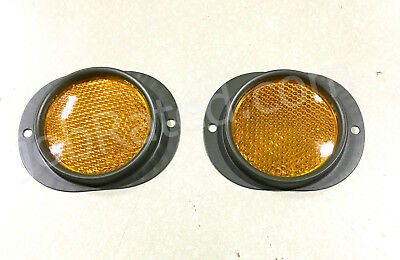 $12.75 • Buy Military Truck Military Trailer Set Of 2 Amber Yellow  Reflector  M101