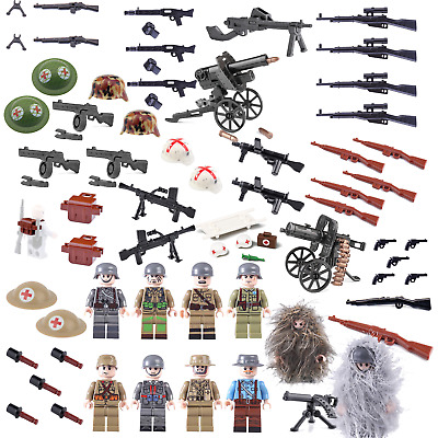 WW2 WWII ARMY Weapons, Guns Helmets & Gear Compatible For LEGO FIGURES UK STOCK • 4.49£