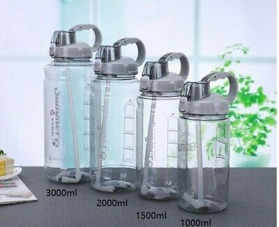 AU29.95 • Buy 1L 2L 3L Water Bottle With Straw BPA FREE Plastic Portable Sport Gym Outdoors