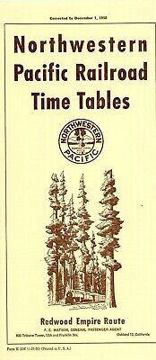 $11 • Buy Northwestern Pacific Railroad System Passenger Time Table, December 3, 1950
