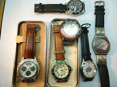 $179 • Buy Vintage Fossil Quartz Analog And Digital Watches For Restoration Or Parts 2 Tins