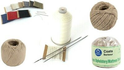 Linen Flax Nylon Waxed Upholstery Hand Sewing Slip Stitching Buttoning Twine • 20.99£