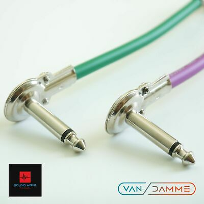 $ CDN14.57 • Buy 2 X 20cm Guitar Patch Leads Pro Cable Effects Pedal Board Mono 6.35mm 1/4  Jack