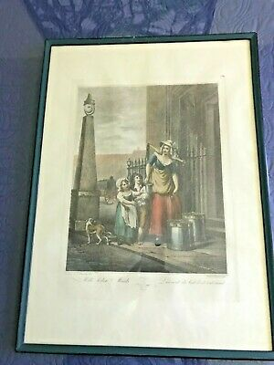 The Cries Of London  (Milk Below Maids) Print From Engraving - Unframed. • 13.11£