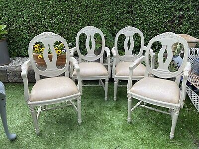 ~A Set Of 4 French / Gustavian Style Chairs~ • 500£