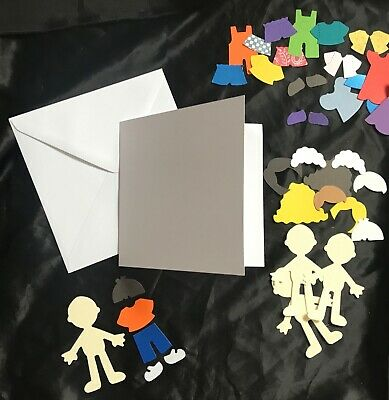 Children's Card Making Kit, Craft Set, Grandparents We Miss You Cards For Kids • 5£