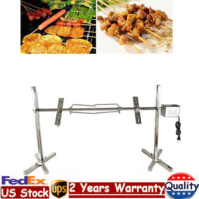 $149.06 • Buy BBQ Rotisserie Grill Spit Roaster Rod Outdoor Cooker Grill 15W Motor 50-70Kgf.cm