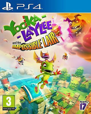 AU39.95 • Buy Yooka-Laylee And The Impossible Lair PS4 PlayStation 4 Game PAL Vers In Stock