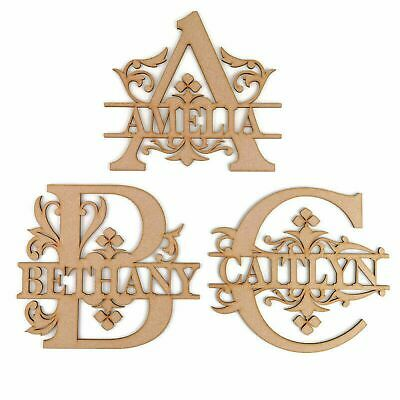 AU29.99 • Buy 1 X MDF Personalised Monogram Letters Laser Cut Wooden Name Custom Wood Sign