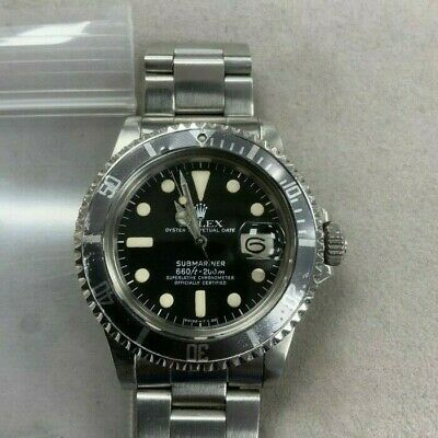 $ CDN13509.11 • Buy Rolex Vintage Submariner Steel Auto Ghosted Bezel Mens Watch 1680 Selling As-Is