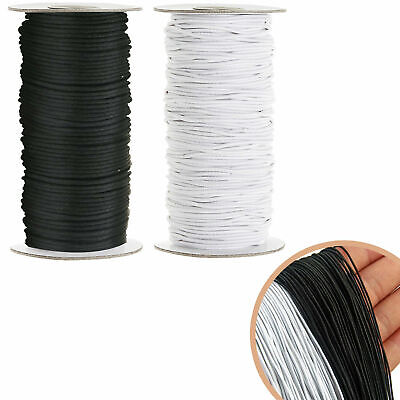 $ CDN8.51 • Buy Round Flat 2mm Elastic Rope Bungee  String Stretchable Cord Dress Making Craft