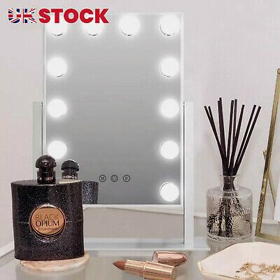 Hollywood Mirror With Lights Dressing Vanity Makeup Desk Table Bright 12 LED • 46.99£