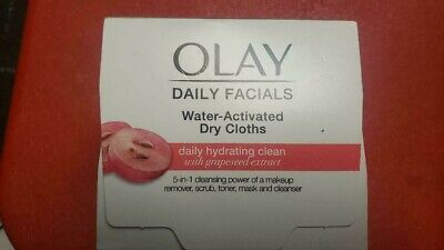 AU9.65 • Buy OLAY DAILY FACIALs 5 In 1 HYDRATING CLEAN GRAPESEED EXTRACT 33 DRY CLOTHS/NEW