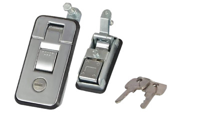AU28 • Buy 2 X Lockable Compression Lock Chrome (Small)- Suitable For Ute, Trailer, Toolbox
