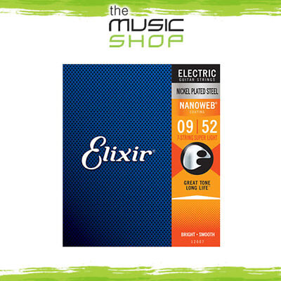 AU34.95 • Buy Elixir Nanoweb 9-52 7-String Electric Guitar Strings - 12007