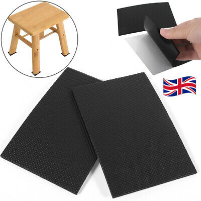 2x Non-slip Self Adhesive Furniture Rubber Feet Pad Table Chair Floor Mat Sticky • 4.49£