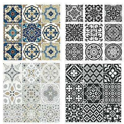 Traditional Tile Transfers Stickers Wall Victorian Moroccan Retro Mosaic Sticker • 6.97£