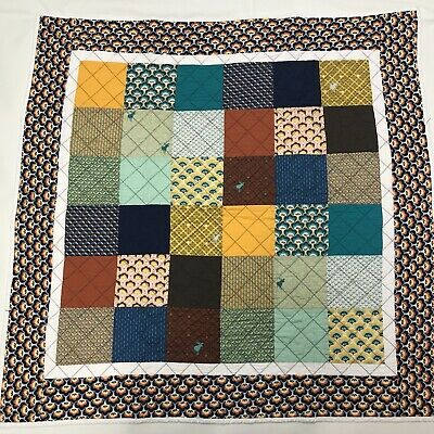 """Patchwork Quilt Kit Top For Beginners W/Illustrated Instructions 40"""" Square • 15£"""