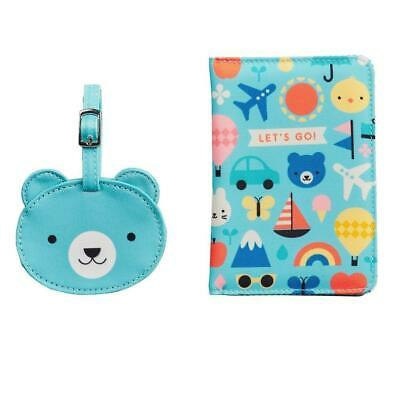 AU29.95 • Buy Petit Collage - Baby Bear Passport Cover And Luggage Tag Set