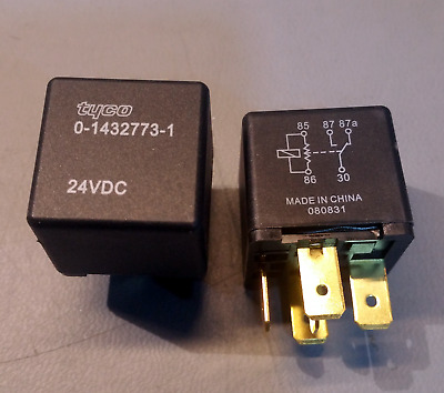 $ CDN12 • Buy 2x Tyco 0-1432773-1 Relay (24V, 30A, Non Latching) - Ships From Canada!