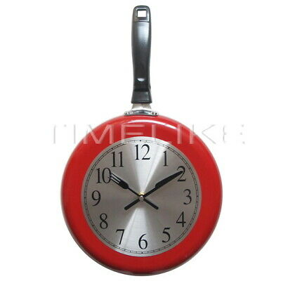 Clock Frying Pan Creative Gifts Kitchen Stylish Wall Hangings Unique Gifts Home • 15.67£