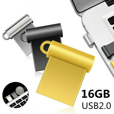 $3.19 • Buy 16Gb Usb2.0 Flash Drive Memory Pen Stick Mini Metal Storage Disk For