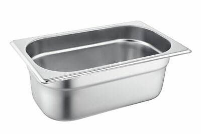 £9.99 • Buy 1/4 Gastronorm Pan Bain Marie Pan 150mm Deep Size: 265Lx165Wx150Dmm