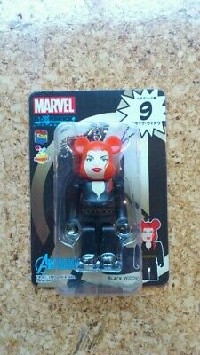 $25 • Buy Medicom Marvel Bearbrick Keychain - No. 9 Avengers Black Widow