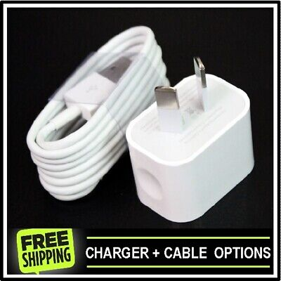 AU12.95 • Buy Genuine Apple Wall Charger Adapter For IPhone 5 6 7 8 X XS XR + Cable Options
