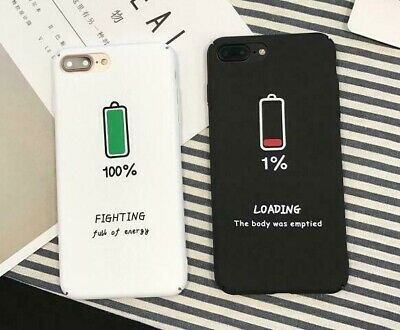AU9.95 • Buy Funny Battery Charge Phone Case For IPhone X XR XS Max 7 8 Plus SE