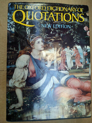 The Oxford Dictionary Of QUOTATIONS New Edition 4th 1992 Hardback Book • 11.98£