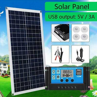 12V 30W Dual Flexible USB Solar Panel Battery Charger Kit Car + 40A Controller • 32.99£