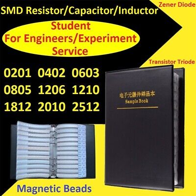 $16.90 • Buy SMD Resistors/Capacitors/Inductor/Zener Diode/Transistor Triode Samples Book Kit