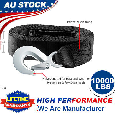 AU19.99 • Buy 20Feet Winch Strap 10000LBS Hand Winch Strap Replace Manual Car Boat Trailer 2In