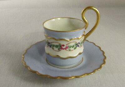 $19.99 • Buy IMPERIAL France Demitasse Cup & Saucer Set Hand Decorated