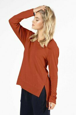 AU19 • Buy Betty Basics Zara Waffle Long Sleeve Top In Terracotta