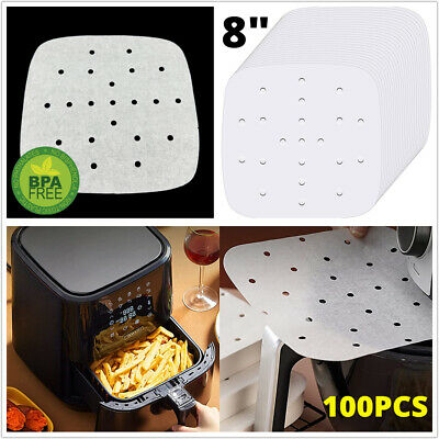 AU28.49 • Buy 8 In Air Fryer Accessories Frying Cage Baking Pan BBQ Rack Pizza Tray Pot 130pcs