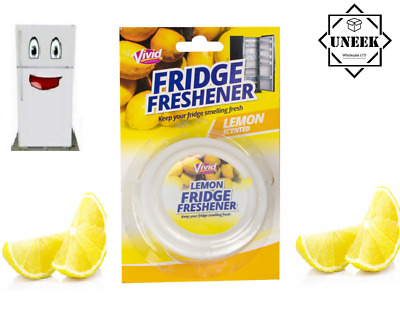 DEODORISER FRIDGE FRESHENER LEMON Scent Air Kitchen Remove Smell Odour GM2894 UK • 3.15£