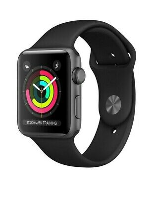 $ CDN158.75 • Buy Apple Watch Series 3 (GPS) 42mm Space Gray Aluminum Case With Black Sport...