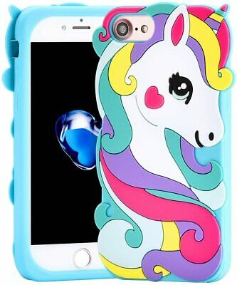 AU11.46 • Buy For IPhone 6S / 7 / 8 - SOFT SILICONE RUBBER SKIN CASE COVER CUTE BLUE UNICORN