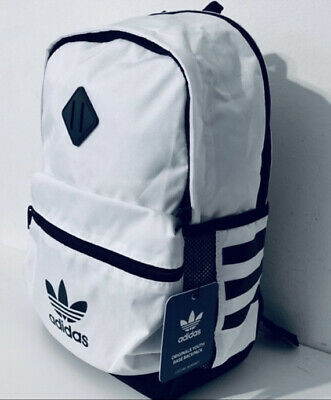 $39 • Buy Adidas TREFOIL Originals Youth Base 18  Backpack White Black LAPTOP SCHOOL BAG