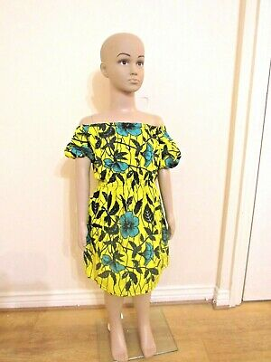 African Girls Ankara Fabric 100% Cotton Dress • 18£