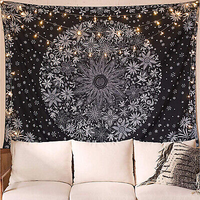$13.79 • Buy Athorbot Bohemian Wall Hanging Tapestry White Floral Wall Art Home Decor 80x60''