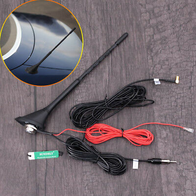 Universal Roof Mount Active Amplified FM/AM + DAB Radio Car Aerial Antenna Mast • 22.99£