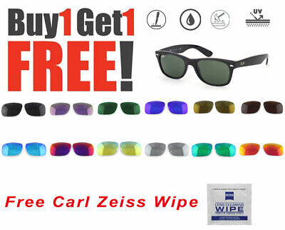 AU19.99 • Buy 2 X Polarized Replacement Lenses For Ray-Ban New Wayfarer 2132 Sunglasses 55mm