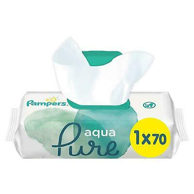 £5.92 • Buy Pampers Baby Changing Wipes Aqua Pure Water - Dermatologically Tested - 70 Pack