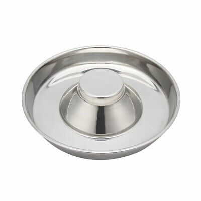 LARGE 34cm PUPPY SLOW FEED BOWL STAINLESS STEEL ANTI BLOAT FEEDER  DOG WEANING • 14.90£