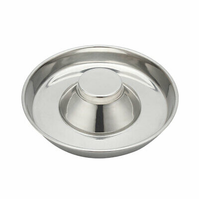 £12.90 • Buy LARGE 34cm PUPPY SLOW FEED BOWL STAINLESS STEEL ANTI BLOAT FEEDER  DOG WEANING