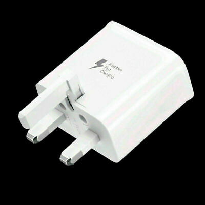 FAST CHARGER PLUG FOR SAMSUNG GALAXY S8+ S9+ S10+ S20+ Note 8 9 10 • 4.29£